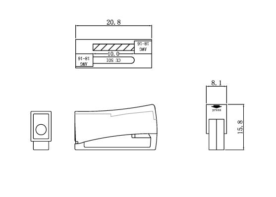 PC301/302灯具连接器